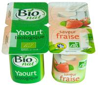 yaourts bio aux fraises