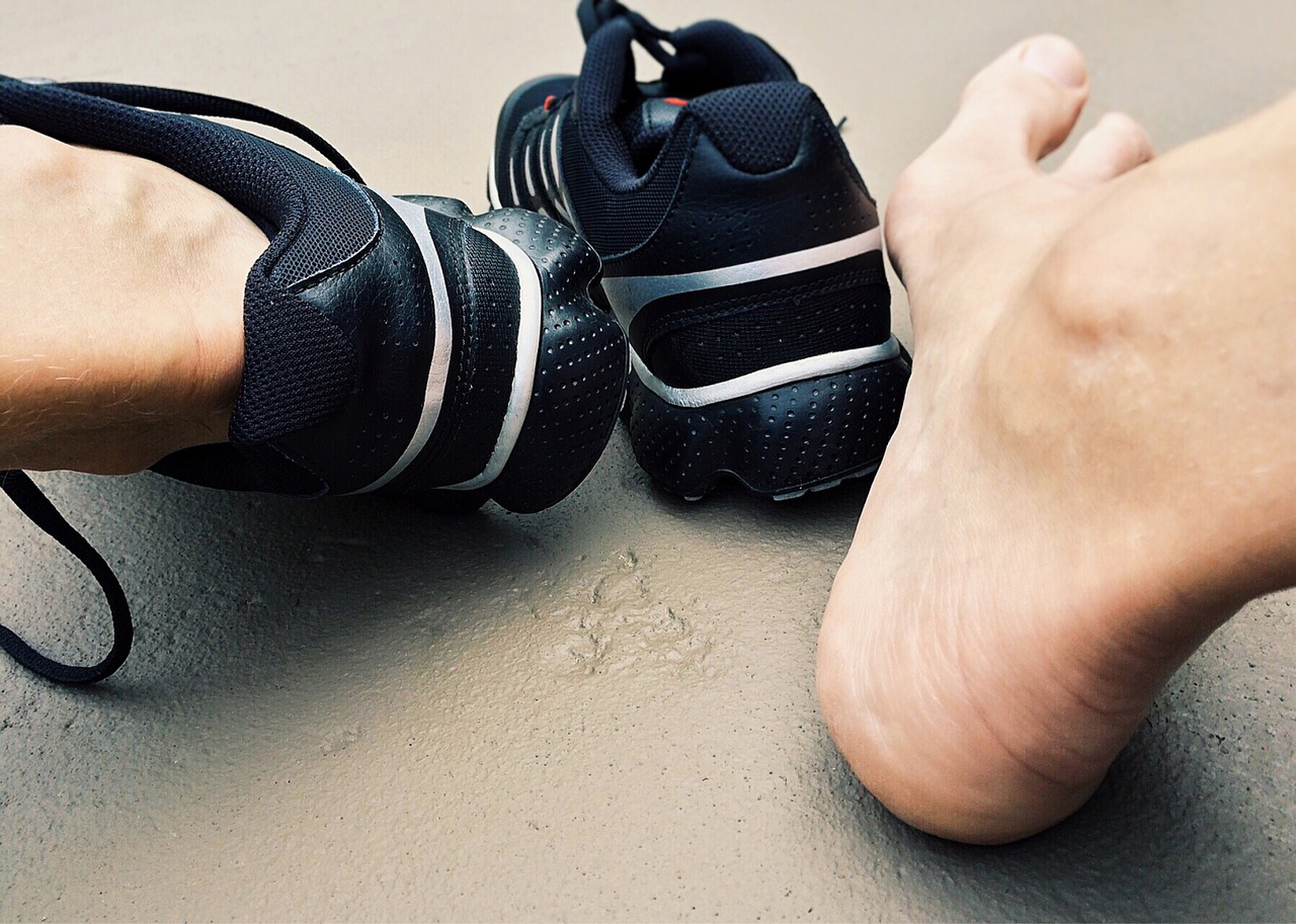 pieds douloureux de sportif