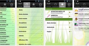 Des applis sur l'homéopathie pour smartphones